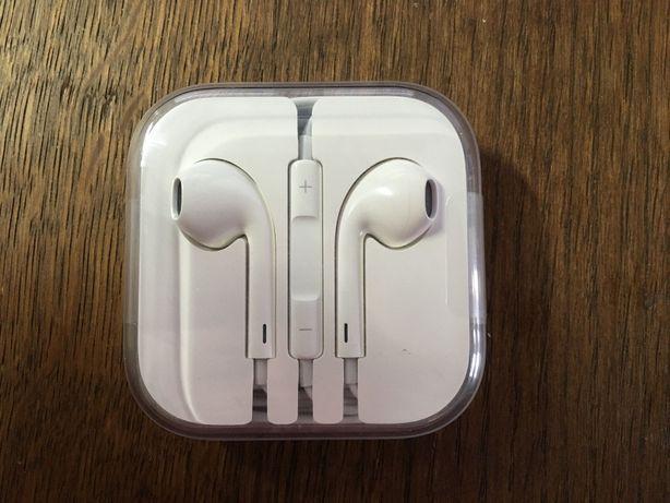 Słuchawki APPLE EARPODS iPhone SE 5S 6S oryginalne, nieużywane