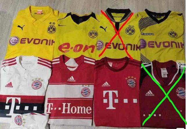Camisolas futebol Borussia Dortmund e Bayern Munique - vários preços