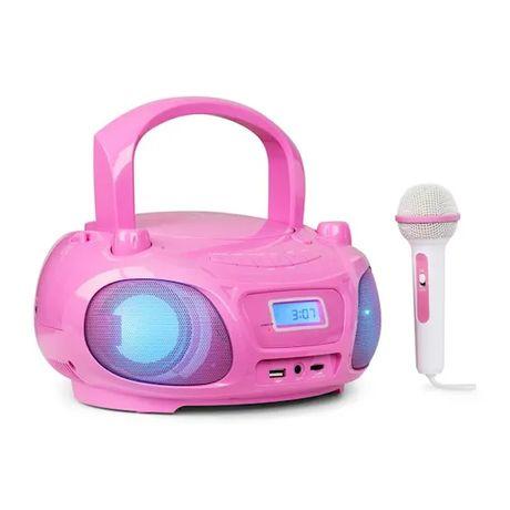 Boombox radio UKF show świetlne odtwarzacz CD mikrofon 121221W