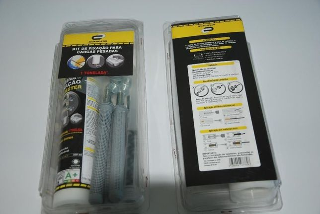 Kit de fixação de cargas pesadas (buchas químicas)