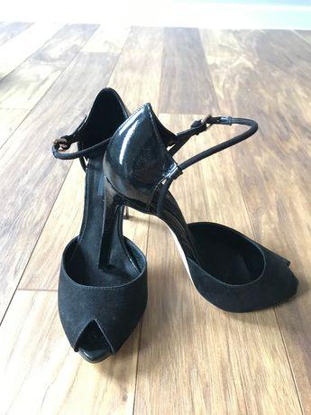 Czarne sandały Zara rozmiar 36