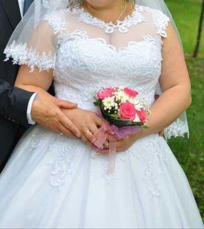 Свадебное платье для полных 52-54