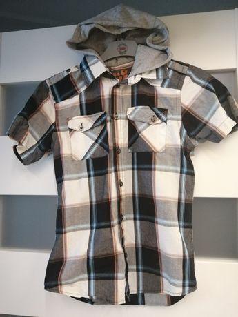Koszula z kapturem krótki rękaw 140/146
