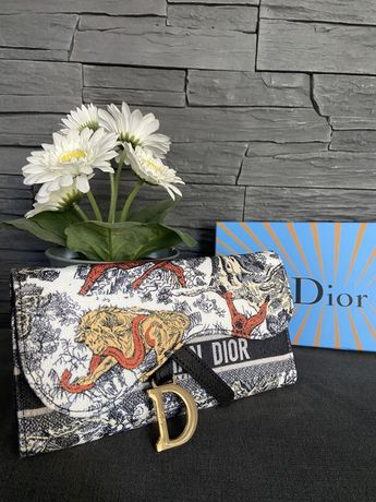 Portfel damski Dior Siodło Premium + pudelko