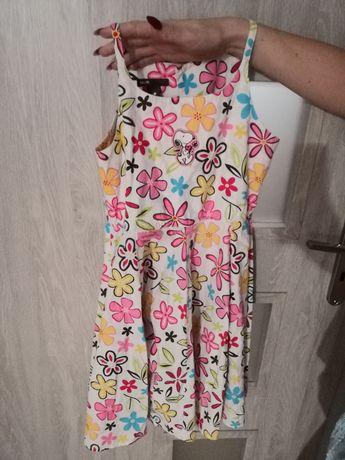 Sukienka 128cm snoopy h&m ideał