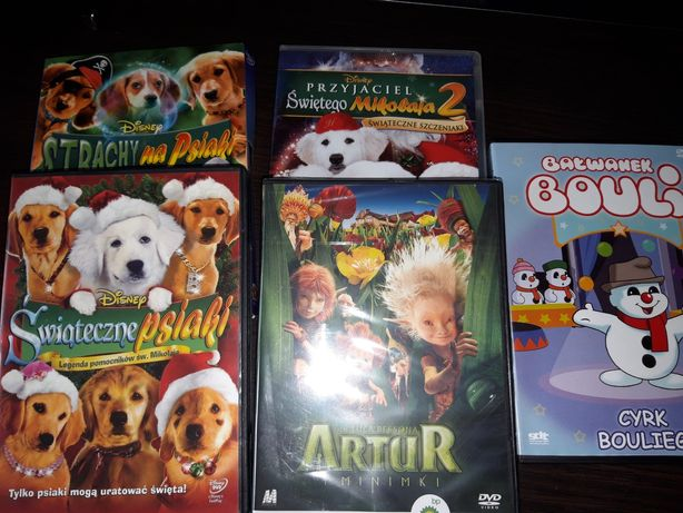 Filmy, świąteczne psiaki i inne, płyty