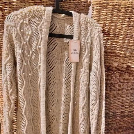 Kardigan sweter włoski 36, 38, 40 nowy