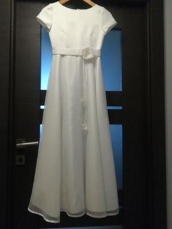 Piękna skromna suknia komunijna, bolerko