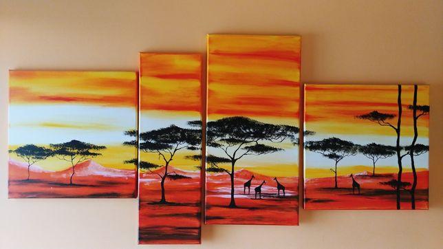 Afryka obraz na płótnie 130x65 Idealny stan.