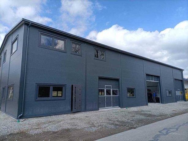 hala stalowa konstrukcja magazyn biuro pawilon Rebud 348m2