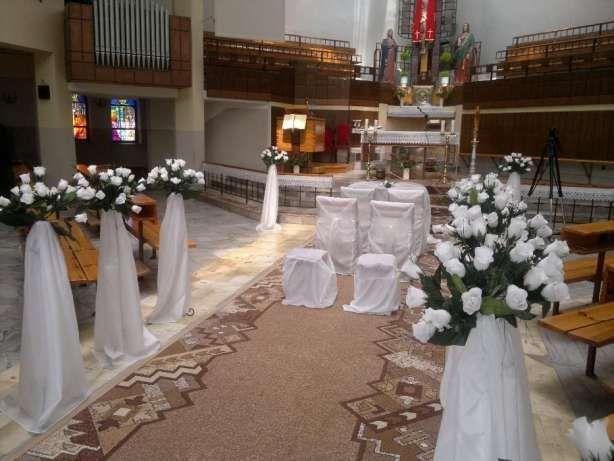 Stojaki dekoracje kościoła, dekoracje ślubne, komunijne , weselne