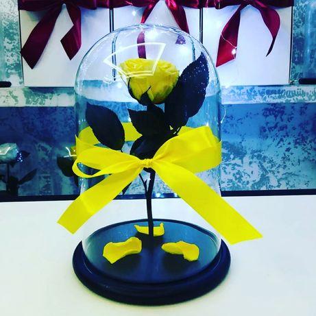 Роза в Колбе +Коробка/Гравировка/Лепестки.Подарок на 8 марта.