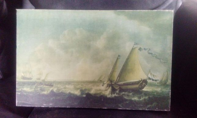 Stary obraz statek