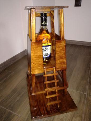 Ambona mała ozdobny prezent na butelkę dla myśliwego leśnika łowiectwo