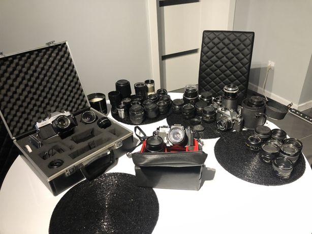 Obiektywy M42, Pentax, Minolta, 50mm 28mm 24mm 135mm Fujinon Pentacon