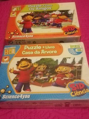 Novos ainda selados Puzzle + Livro Sid Ciência da Science4you