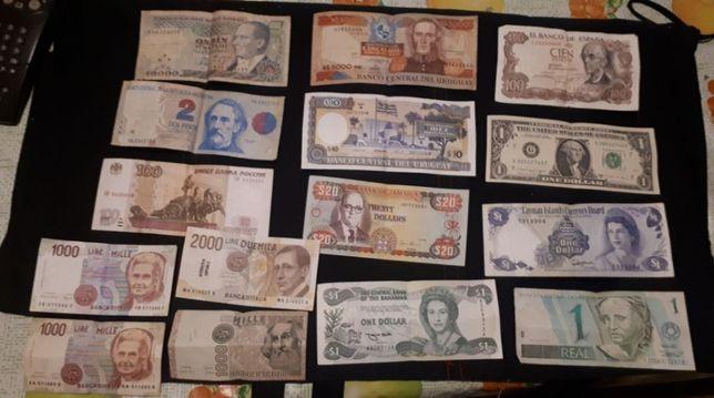 notas vários países