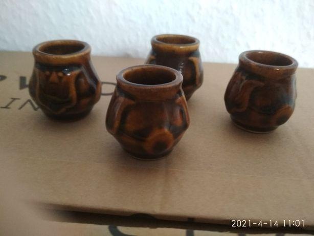 Kieliszki ceramiczne PRL