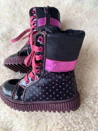 Зимние сапоги ботинки lapsi на девочку