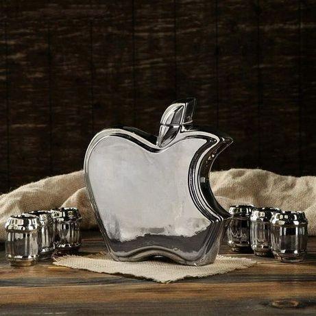 Apple бутылка с рюмками - набор для спиртного, оригинальный подарок