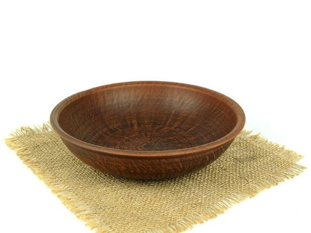Миска глубокая простая 200 мм из красной глины, гончарная посуда