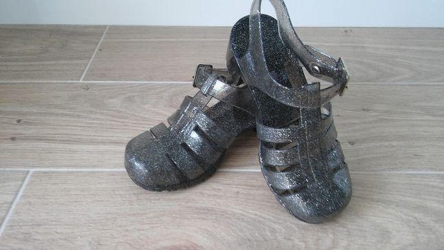 Sandałki, żelowe, gumowe r.30 na obcasiku