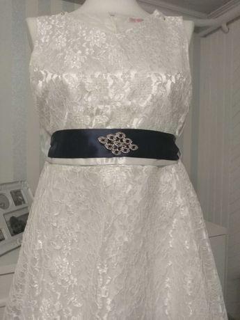 Sukienka dziewczęca biala