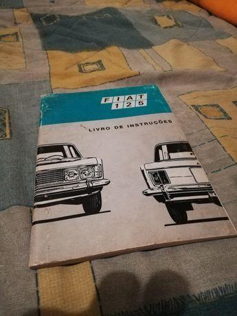 Livro manual de instruções de Fiat 125