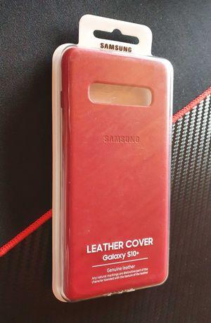 Etui skórzane, czerwone do Samsung S10+ EF-VG975LREGWW