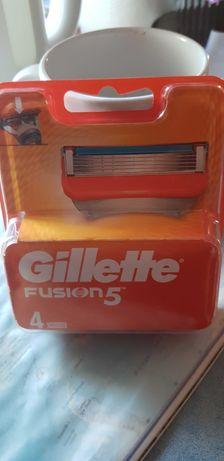 Gillette Fusion 5 nowe oryginalnie zapakowane. 4 sztuki w pudelku.
