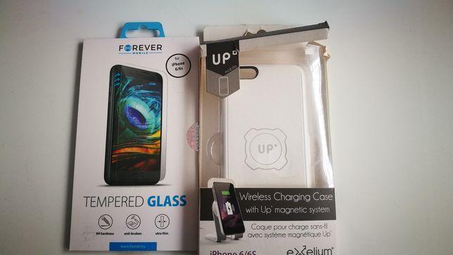 Etui indukcyjne plus szkło apple iphone 6 6s białe plecki