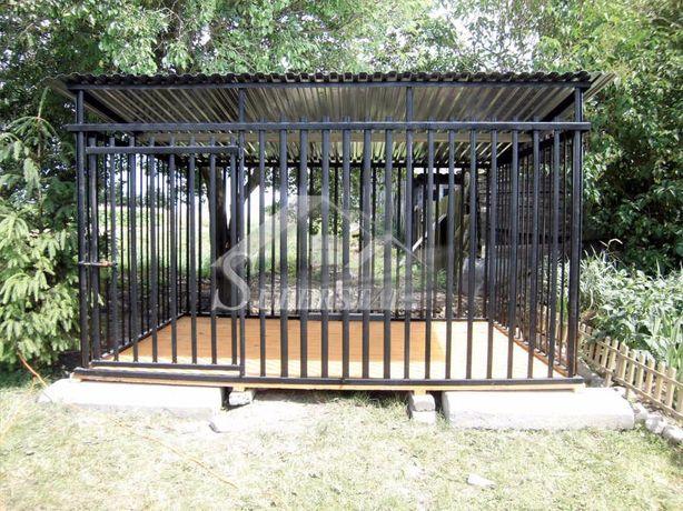 Kojec dla psa 3x2 profil czarny WZMOCNIONY, każdy wymiar, z dowozem