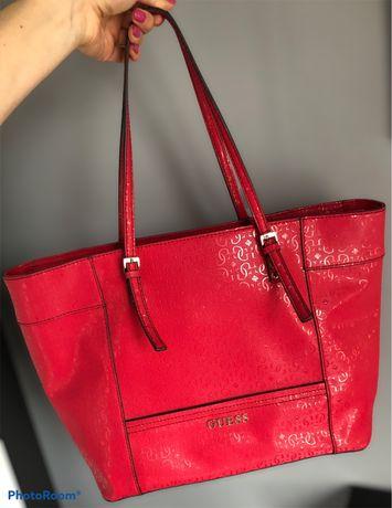 Oryginalna torebka shopper bag guess monogram