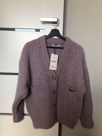 Zara Kardigan Sweter Fiolet rozmiar S NOWY