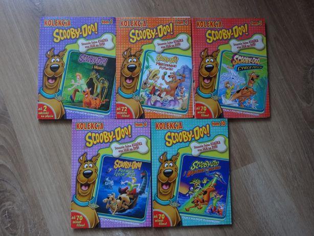 Scooby-Doo film DVD plus książka - 5 części.