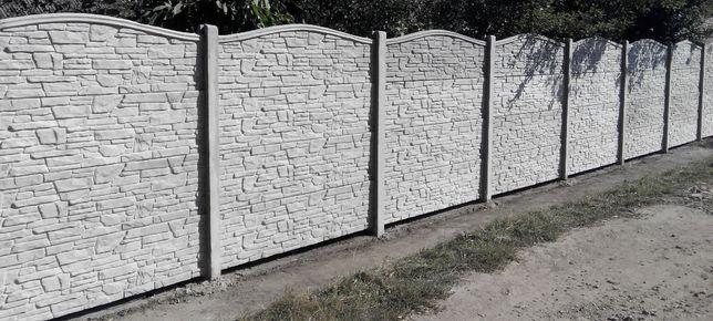Еврозабор. Забор бетонный секционный.