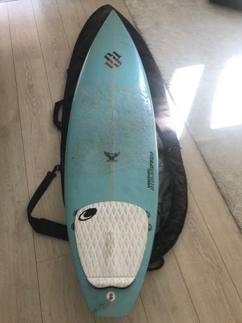 Prancha de surf 6.3 + pijama capa + capa dakine