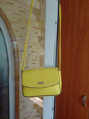 Сумка сумочка жёлтая модная