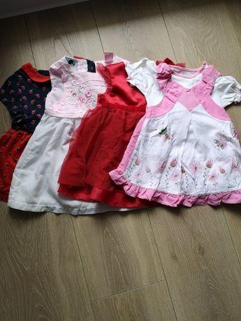 sukienki 9-12 miesięcy