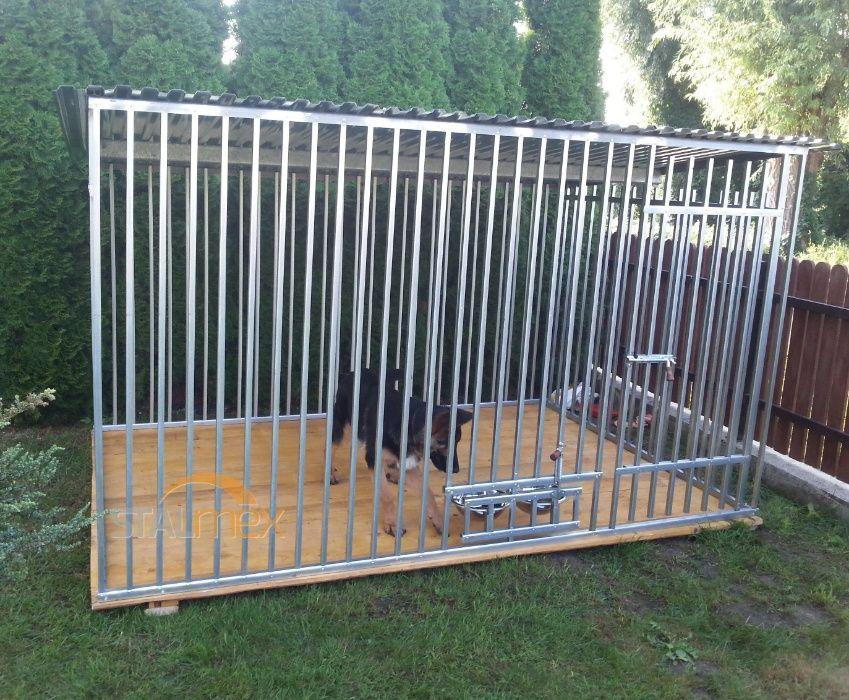 Kojec dla psa 2,9x2 z miskami kojce Jędrzejów - image 1