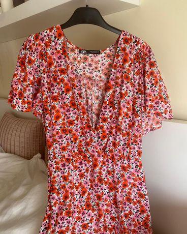Vestido floral zara - tamanho XS (serve até S) - 14€