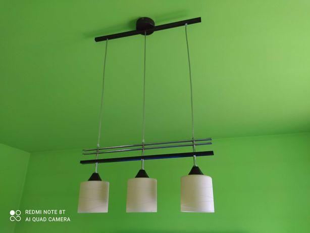 Lampa wisząca z 3 kloszami