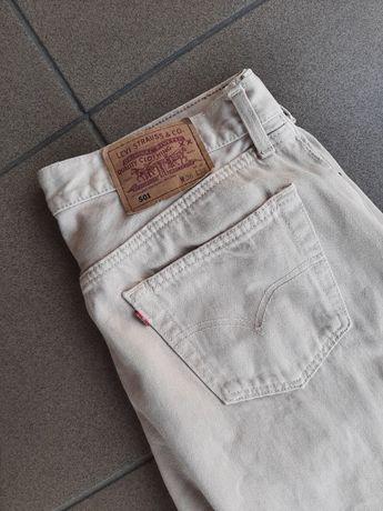 Vintage levis 501 bezowe jeansy 36/32