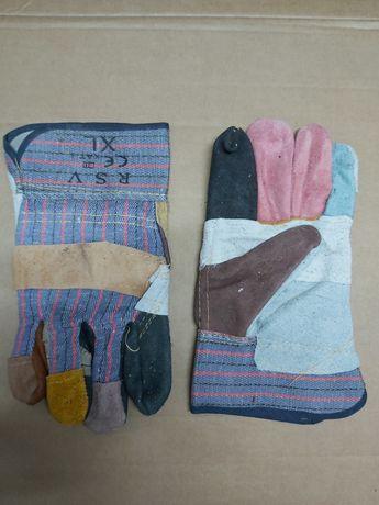 Rękawice robocze, wzmocnione skórą, dwoiną cena brutto, faktura VAT