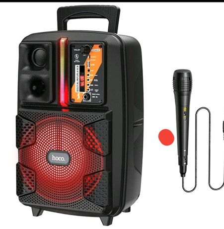 Колонка - Чемодан, Bluetooth колонка с микрофоном караоке! Носо Вс37