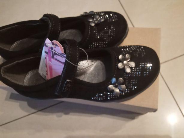 NOWE Buciki rozm 29 18,5 cm wyjściowe czarne eleganckie balerinki buty