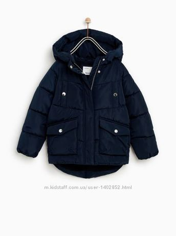 Куртка пуховик фирмы Zara. Размер 8 лет 128