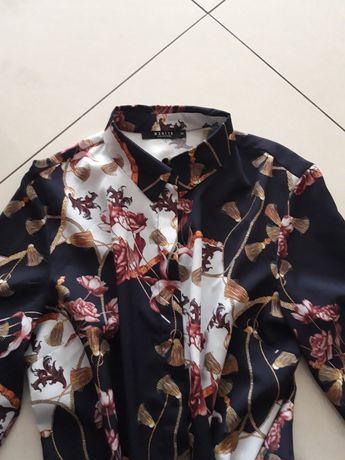 MOHITO blogerska bluzka koszula kwiaty łańcuchy 38 M