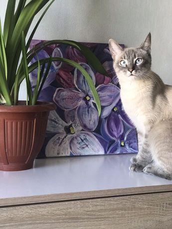 Картина маслом на холсте. Цветы Сирени.Натюрморт, портрет, живопись