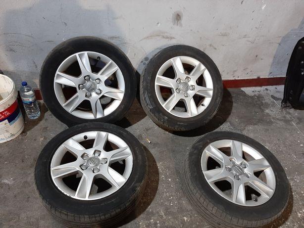 Jantes audi 16 originais 5x112 com pneus